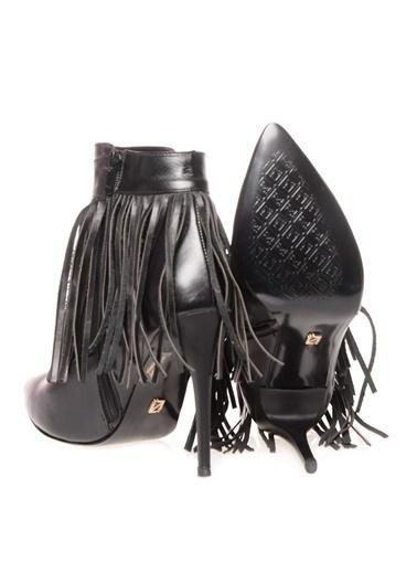 İnci Topuklu Siyah